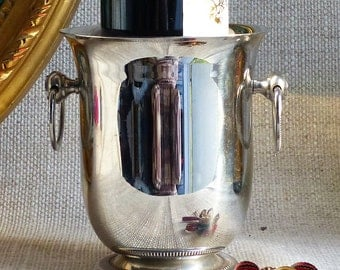 Small Wine Ice Cooler. Vintage Stainless Steel Ice Bucket. Vintage Ice Bucket. French Vintage Ice Bucket,  Bar Accessories, THANKSGIVING,