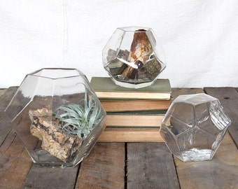 Geometric Large Vase, Geometric Vase, Clear Geometric Vase, Geometric Wedding Decor, Dodecahedron vase, Home Decor
