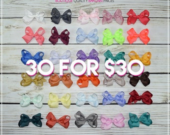 Hair Bows/4 inch bow /BEST SELLER/30 colors----Classy Lady-Large hair bow/ Boutique bows/girl bows  Large hair bow/ Boutique bows/girl bows