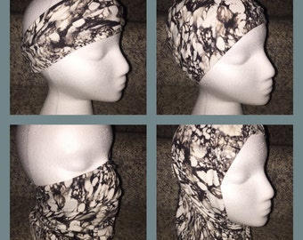 Versatile Headband/Hat/Face Shield all in one! Marble Stone
