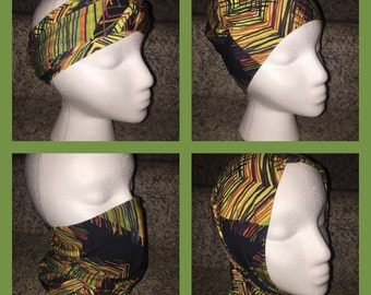 Versatile Headband/Hat/Face Shield all in one! Floral/Leaf/Leaves