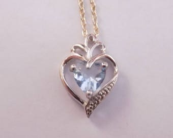 Beautiful sterling silver heart pendant with 18 inch sterling necklace