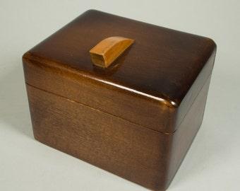 Art deco small wooden box, 30s, vintage