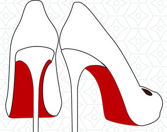 High Heels Decal Design, SVG, DXF, EPS Vector files for use with Cricut or Silhouette Vinyl Cutting Machines
