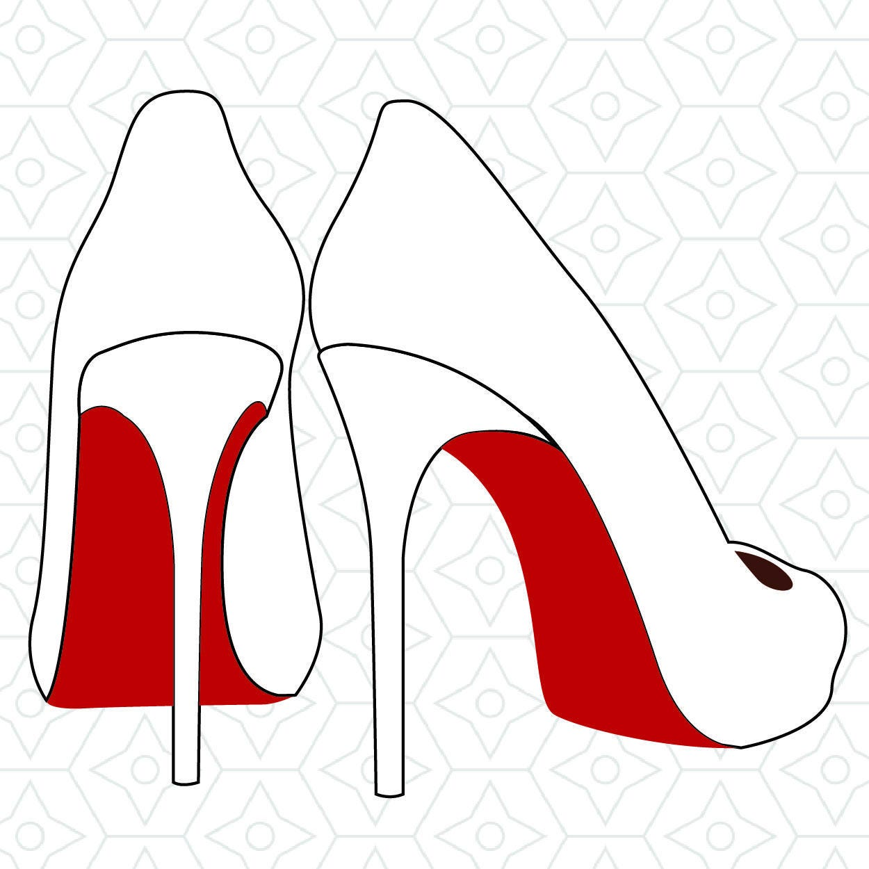 High Heels Decal Design Svg Dxf Eps Vector Files For Use