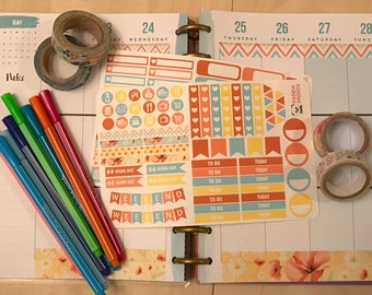 Poppies and Dasies Planner Stickers
