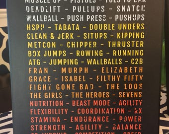 Crossfit Themed Sign