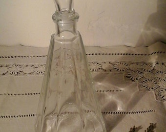 Old glass bottle / vintage / Perfume bottle
