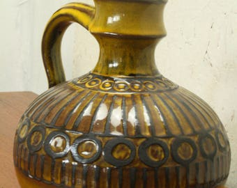 west german pottery by Ceramano decor sunset