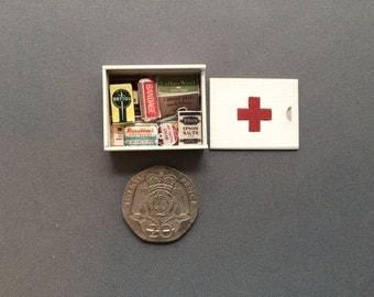 Dollshouse miniature first aid box