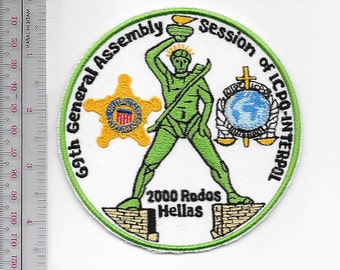 US Secret Service USSS Greece 69th INTERPOL General Assembly Oct 2000 Rhodes Greece