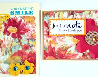 Thank You Cards Handmade * Set of 2