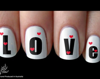 Love letter Nail Art Sticker Water Transfer Decal 101
