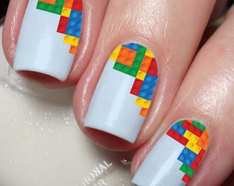 Lego Nail Art Sticker Water Transfer Decal 16