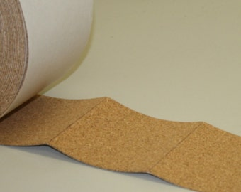 """4"""" x 4"""" Adhesive Backed Cork Square Tile Coaster Backing Material"""