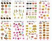 FOOD Mini Planner Stickers | Mini | Credit Card Samplers | CC3.1-8