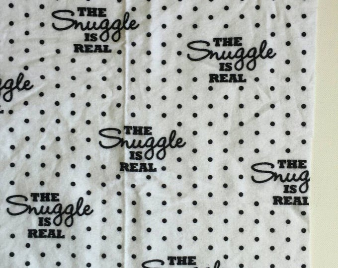 The snuggle is real cotton flannel receiving blanket