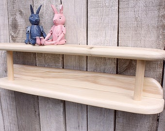 Wall shelf for children's room, Wooden Shelf  Home Decor