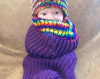 Rastafarian Rainbow Bohemian Baby Cocoon Photo Prop Set