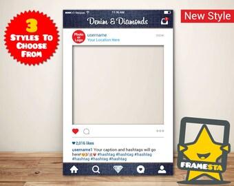 Denim & Diamonds Instagram Frame (Digital File Only)