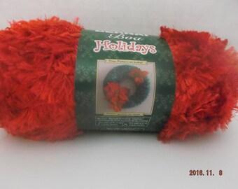 Bernat Boa Holidays Yarn ~ 100 Grams ~ 129 Yards ~ Santa's Suit (red) ~ # 5 Bulky ~