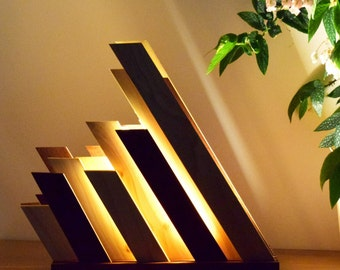 wood lamp,, wooden lamp;  wood led lighting,hand crafed lamp, french design