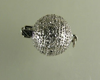 Diamonds 0.35ct Clasp14k White Gold, 11.0mm