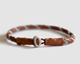 AVAN Single Sami Bracelet, Leather Bracelet, Swedish Nordic Design