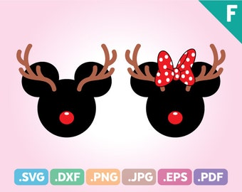 Christmas SVG Files, Mickey Antler SVG Files, Reindeer Svg Cut File, Santa Mickey Antler Svg Cut, Mickey Antler SVG Files, Instant Download