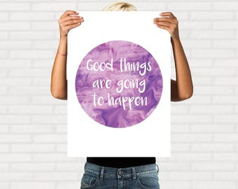 Printable inspirational quote, art poster, art print, digital download, modern wall decor, typography art, printable quote, quote prints