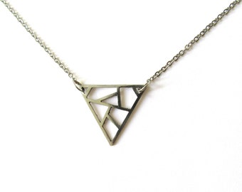 Geometric stainless steel necklace