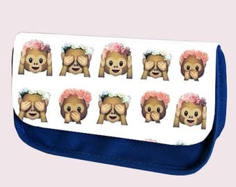 Emoji GIRLIE MONKEYS pencil case / Make-up bag