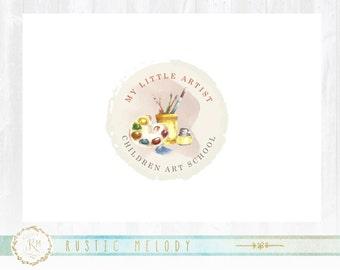 Art Logo Design, Kids Art Classes Logo , Paint Brush Logo,  Artists Logo, Premade logo design, Stamp Logo,Art School Logo