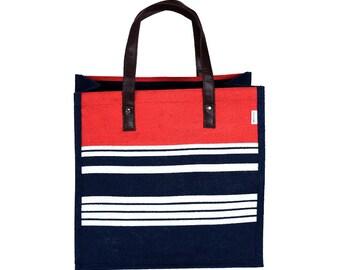 BORA Jute/Hessian eco friendly Reusable Shopping Grocery Tote Bag