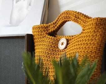 Yellow Crocheted ToTe Bag