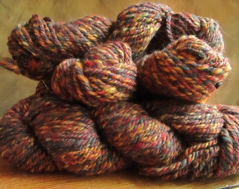 "Wool tweedee spun by hand at the spinning wheel ""The fall"""