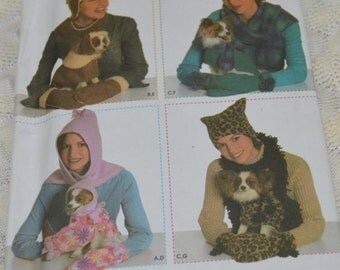 Simplicty Pattern 4780 uncut Fleece Accessories & Dog Clothing Elaine Heigl Designs