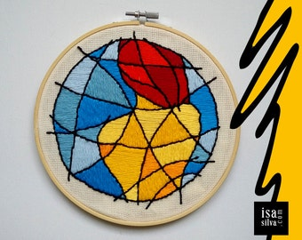 Embroidery Hoop Art-Girl-Embroidery with frame
