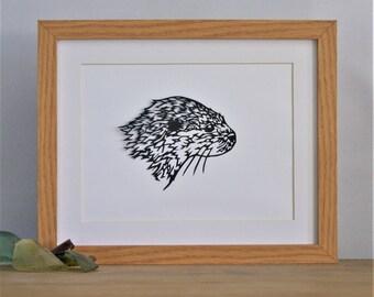 Otter - Handmade Papercut Picture