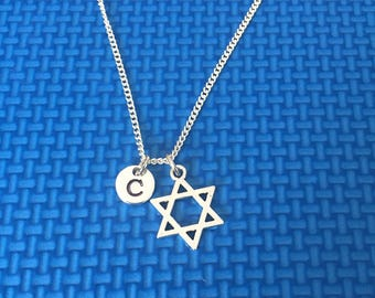 Star of David necklace ,Jewelry, Silver Jewelry, star of david jewelry, CP12