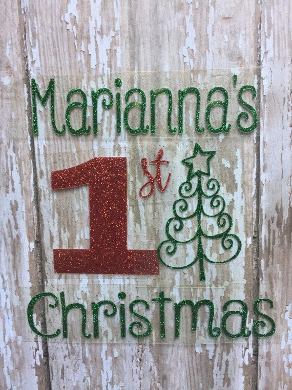 My First Christmas Iron on decal/ Baby's First Christmas iron on decal/DIY Baby's First Christmas outfit/ First Christmas with tree iron on