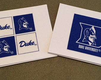 Duke University Blue Devils - set of 8 Cards - blank inside