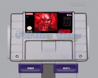"IN STOCK! ""King Of Demons"" Unreleased Super Nintendo SNES Platformer FanBrew Games!"