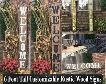 Custom wood signs, Large signs, Porch decor, Front porch decor, Welcome wood signs, Wood decor signs, Barnwood signs, Farmhouse decor