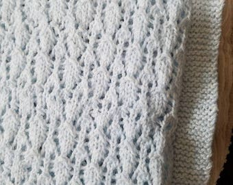 Handmade Knitted Baby Blanket-Free Shipping