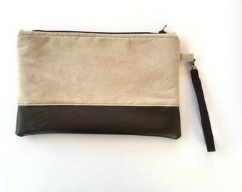 Clutch bag, purse, wristlet, zip pouch, clutch