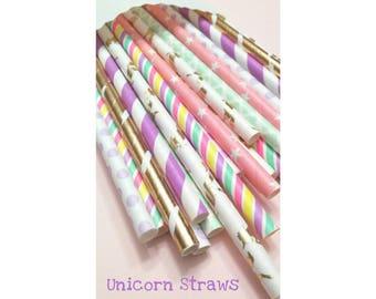 Unicorn Straws. Unicorn Birthday. Unicorn Party Straws. Unicorn Birthday. Limited Edition. Unicorn Party Decorations.