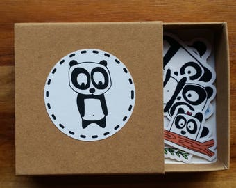 Panda-monium Sticker Box
