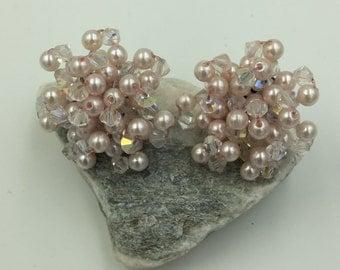 Pink Bead Post Earrings    BUY 3 Get 1 FREE