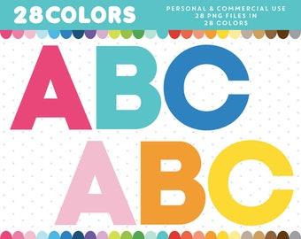 Rainbow Alphabet clipart, Rainbow letters clipart, Rainbow clipart, Rainbow numbers clipart, AL-109